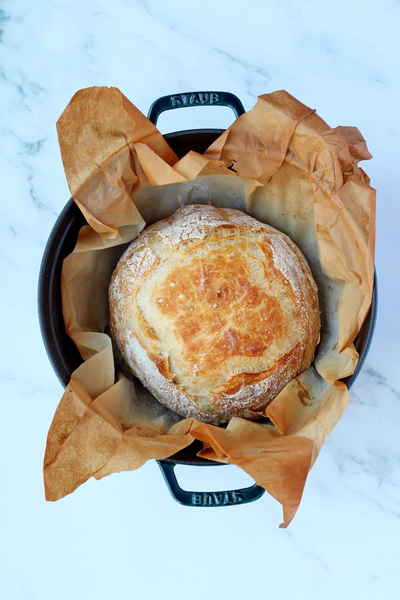 loaf in staub dutch oven
