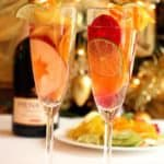 christmas sangria champagne flutes