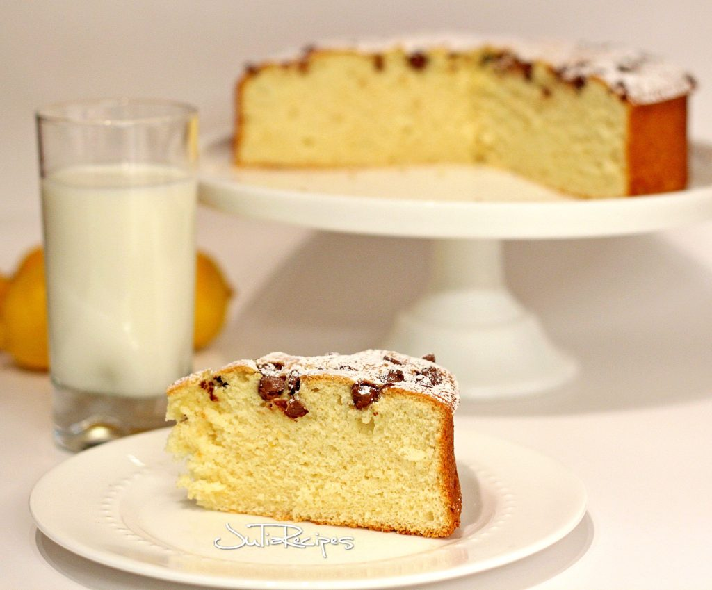 big slice of lemon cake