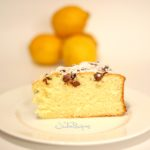slice of lemon cake with chocolate chips
