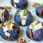 baked figs filled with goat cheese and walnuts
