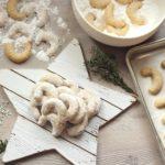 hazelnut crescents on white star board