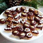 ischler cookies on white plate