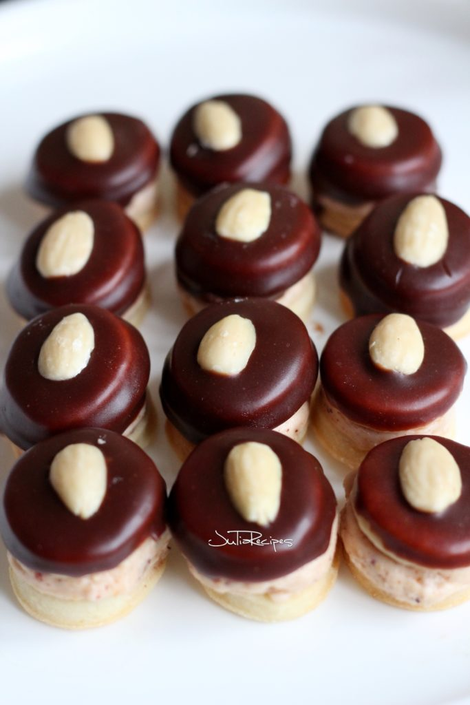 ischler cakes covered in chocolate