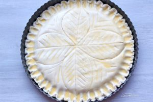 images on puff pastry dough