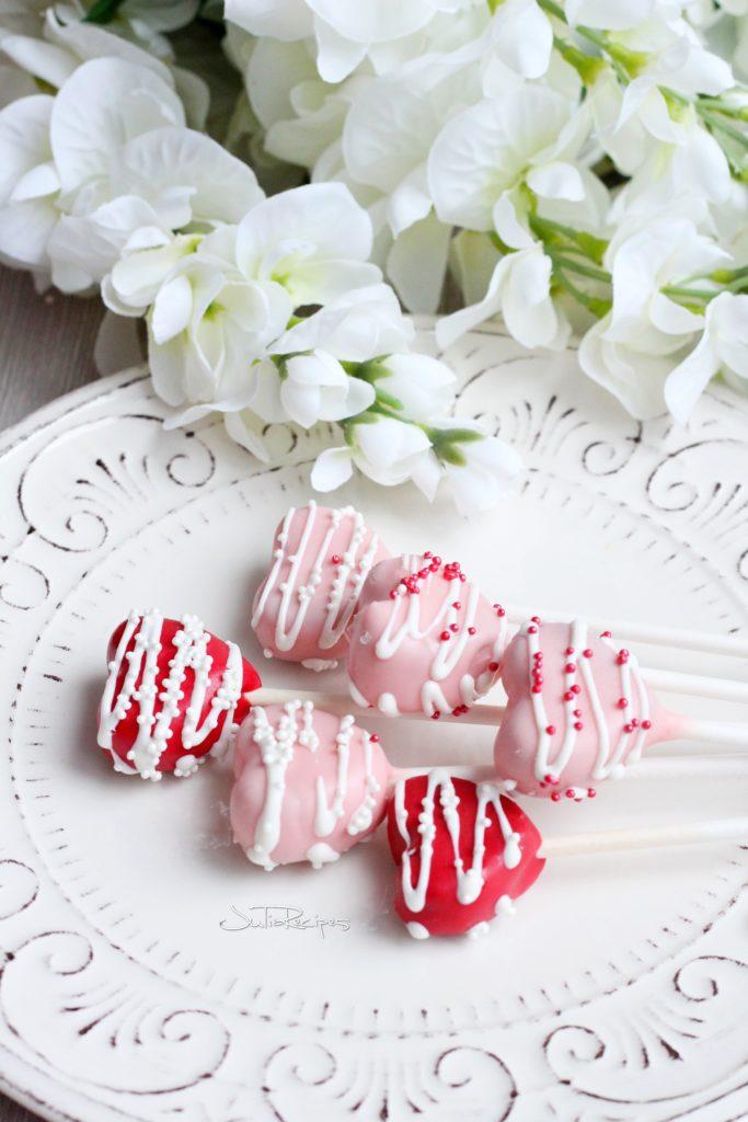 heart shaped cake pops