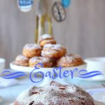 ester table with sweet bread and choux pastry