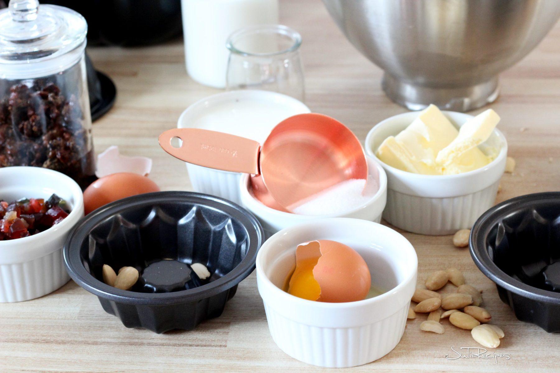 Ingredients for alsatian brioche kuglof