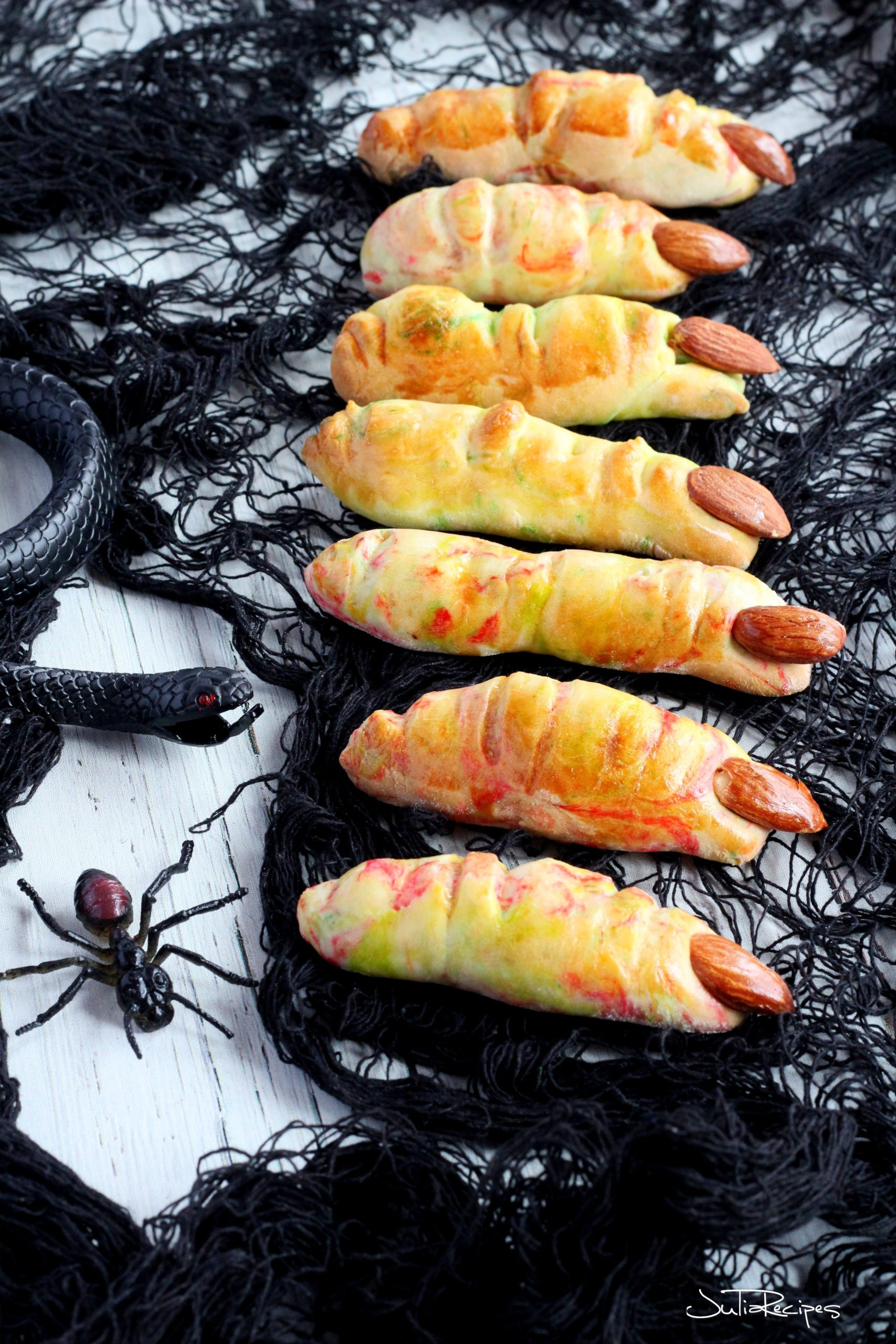 halloween treats on the table