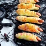 witch pizza dough fingers