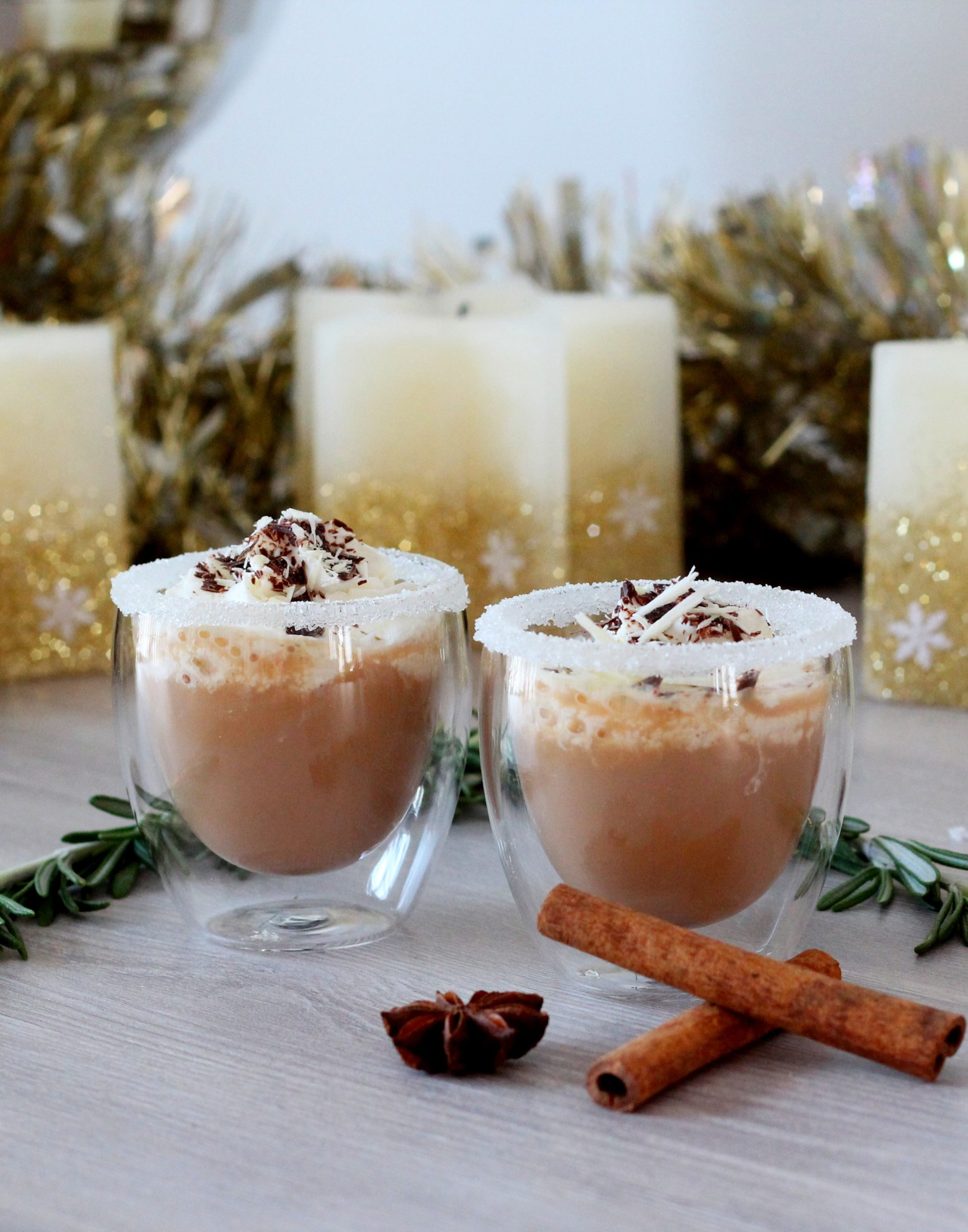 Chocolate drink with whipped cream