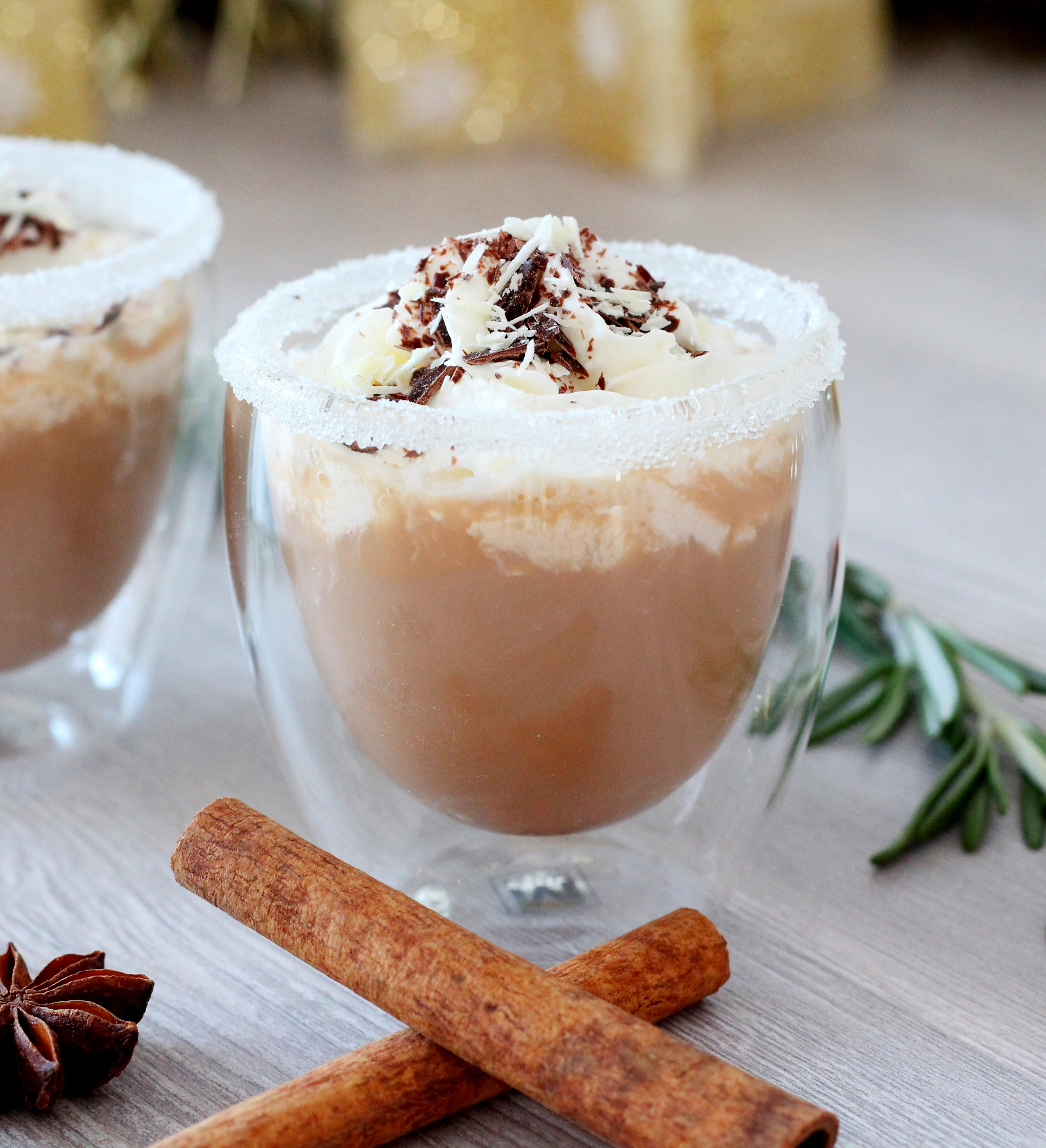 close up on coffee drink