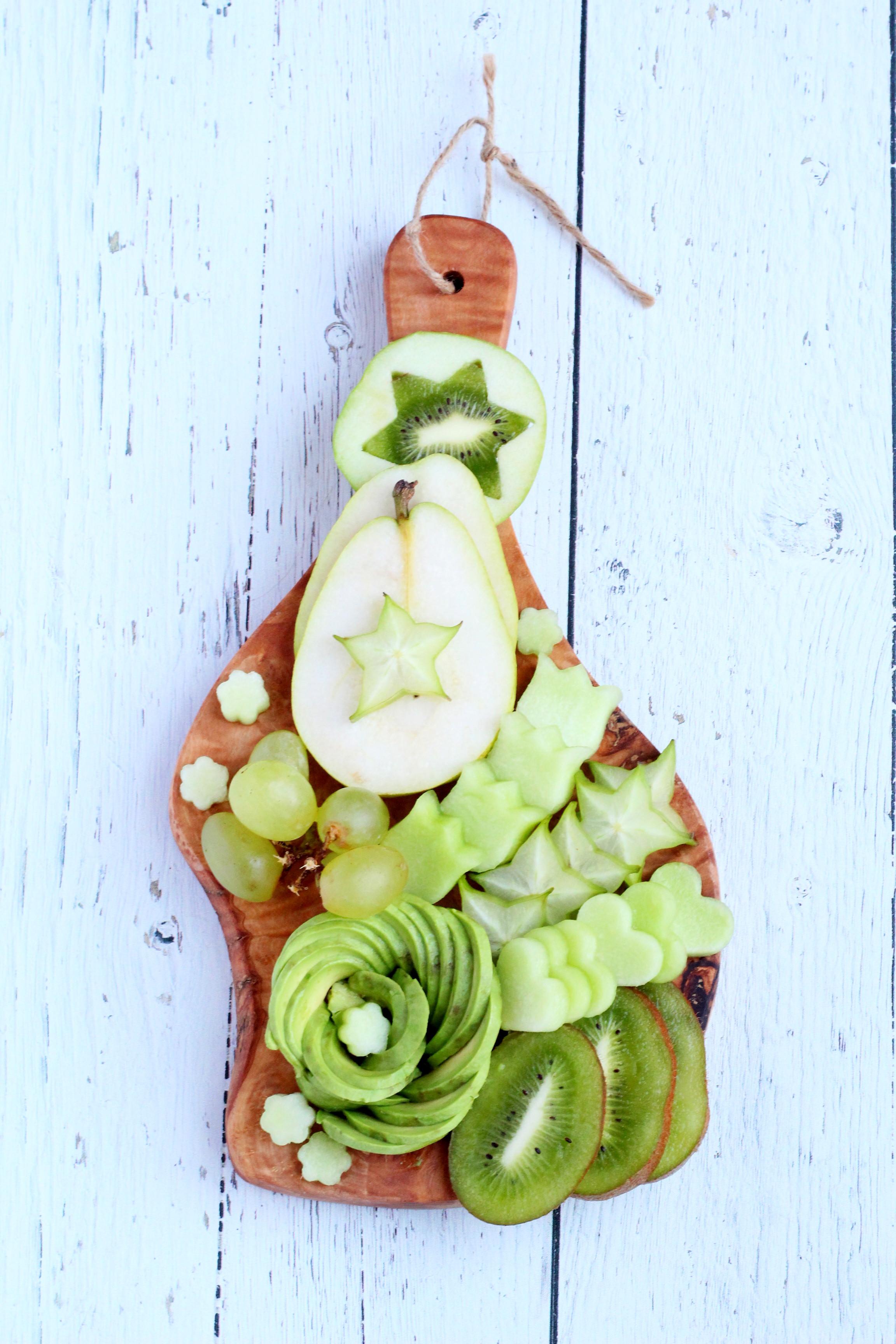 mini green fruit platter