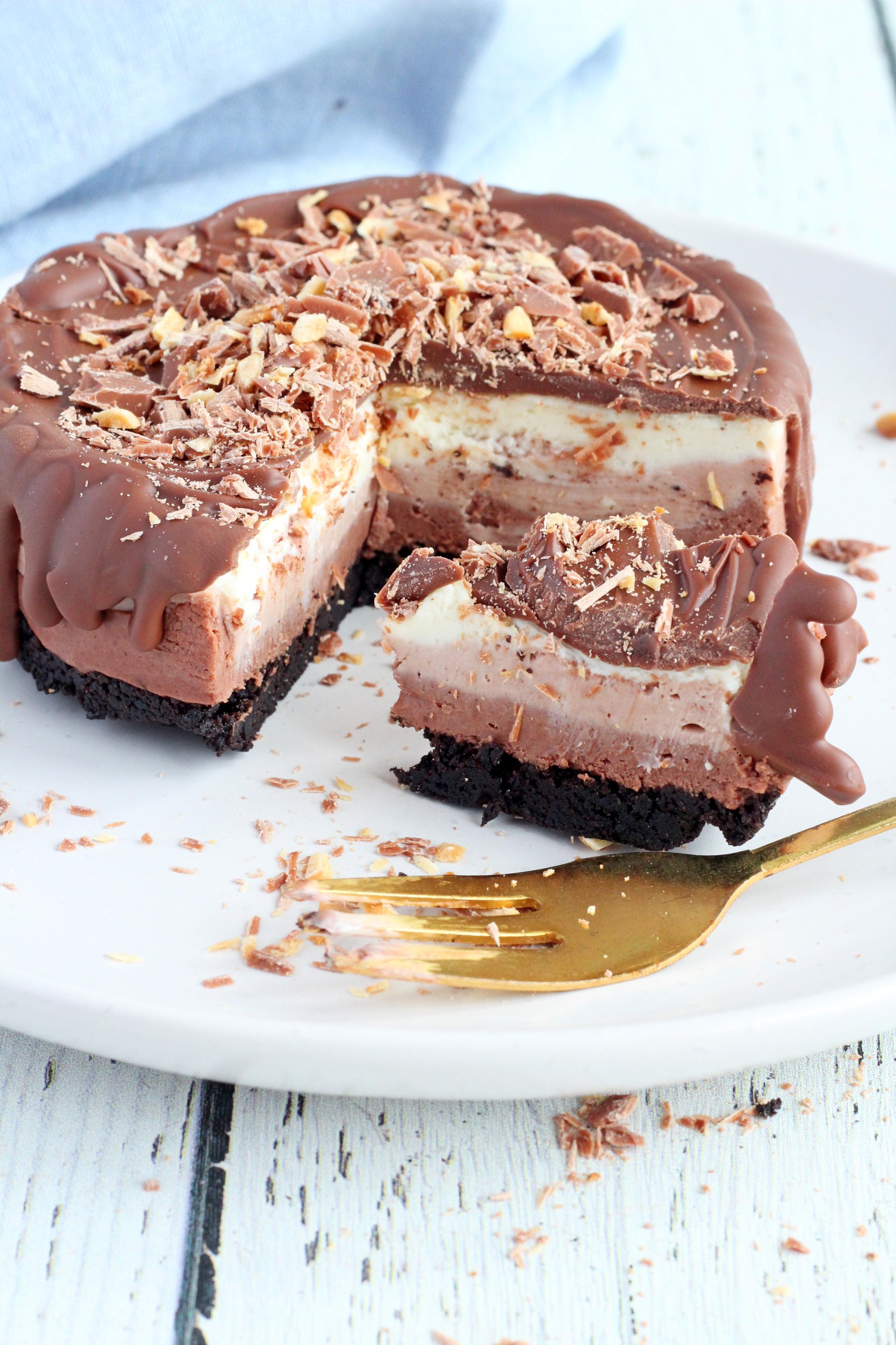 how to make triple chocolate cheesecake