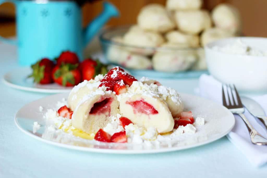 strawberry dumplings