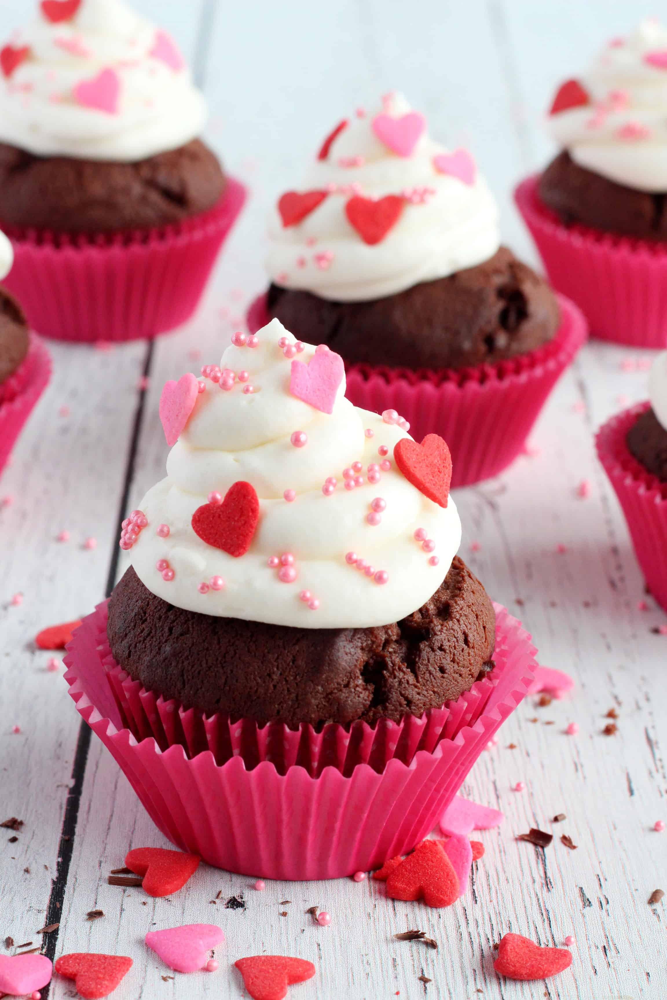Valentine's chocolate cupcakes