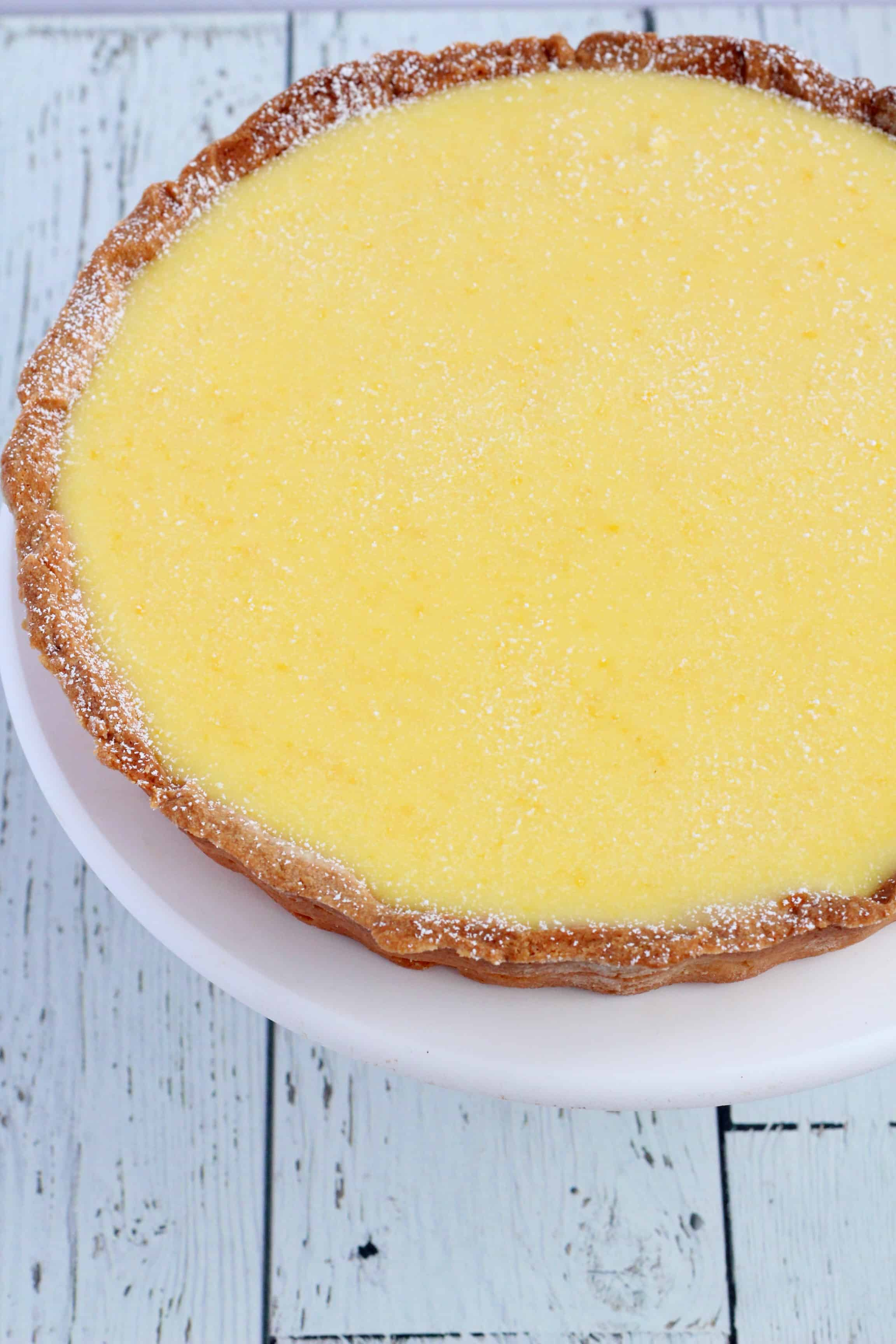 Lemon tart close up