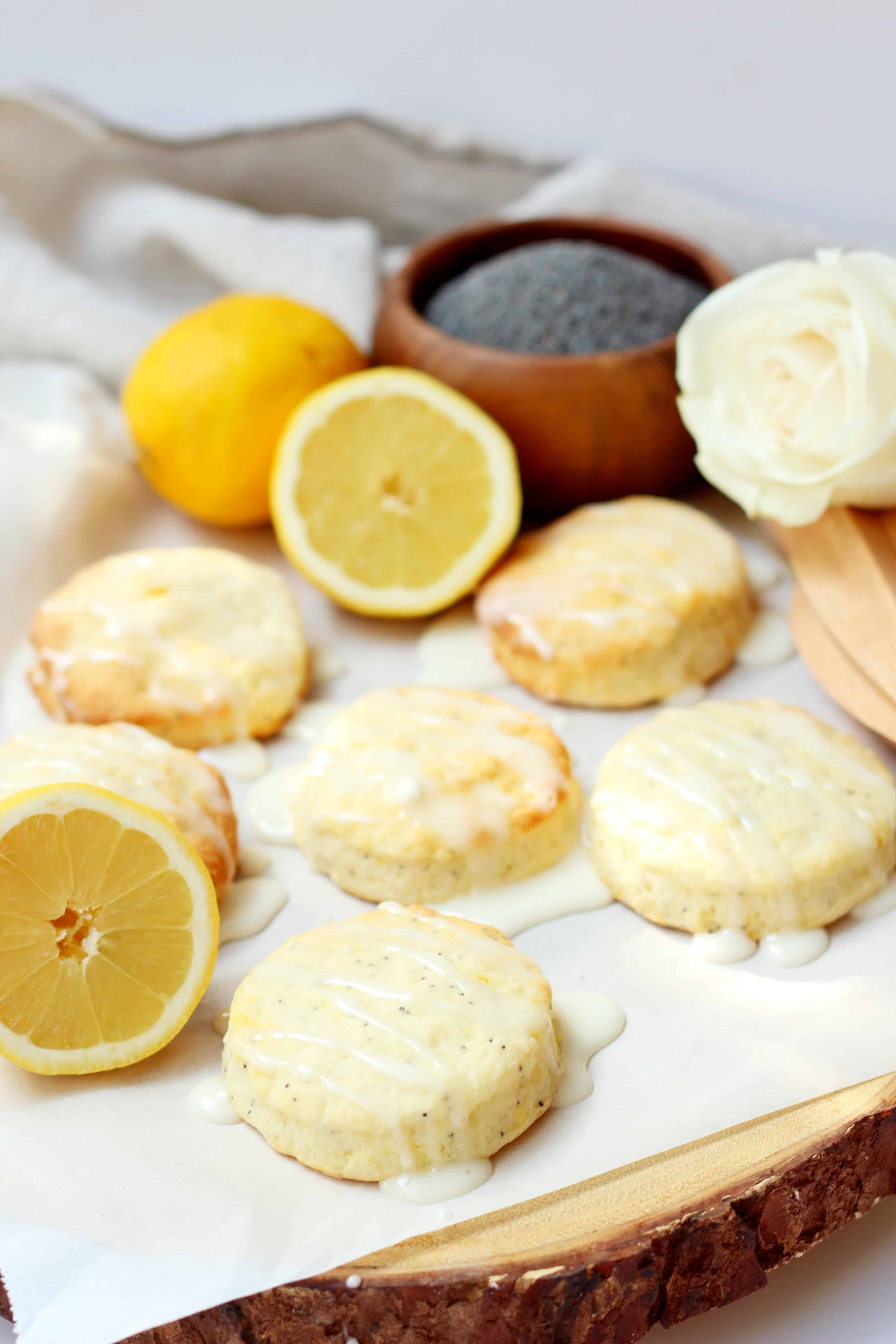glazed lemon scones