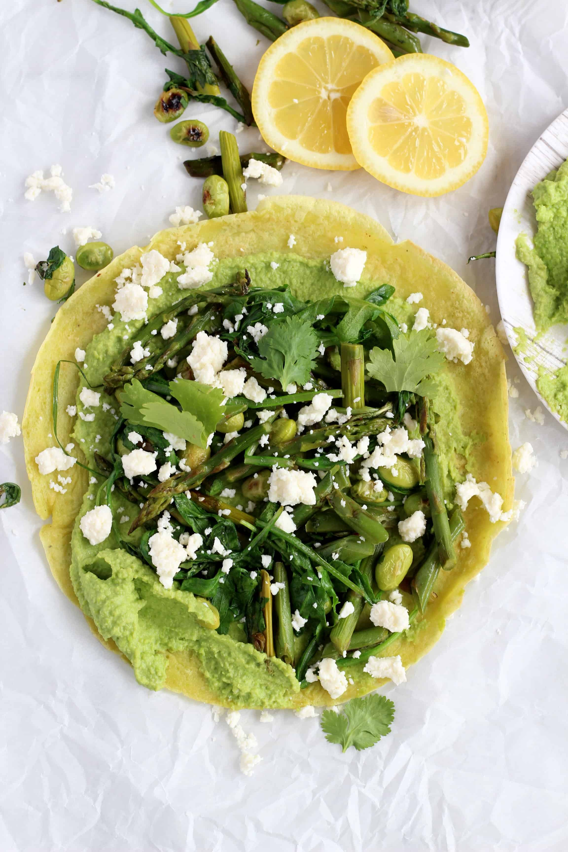 green peas crepes
