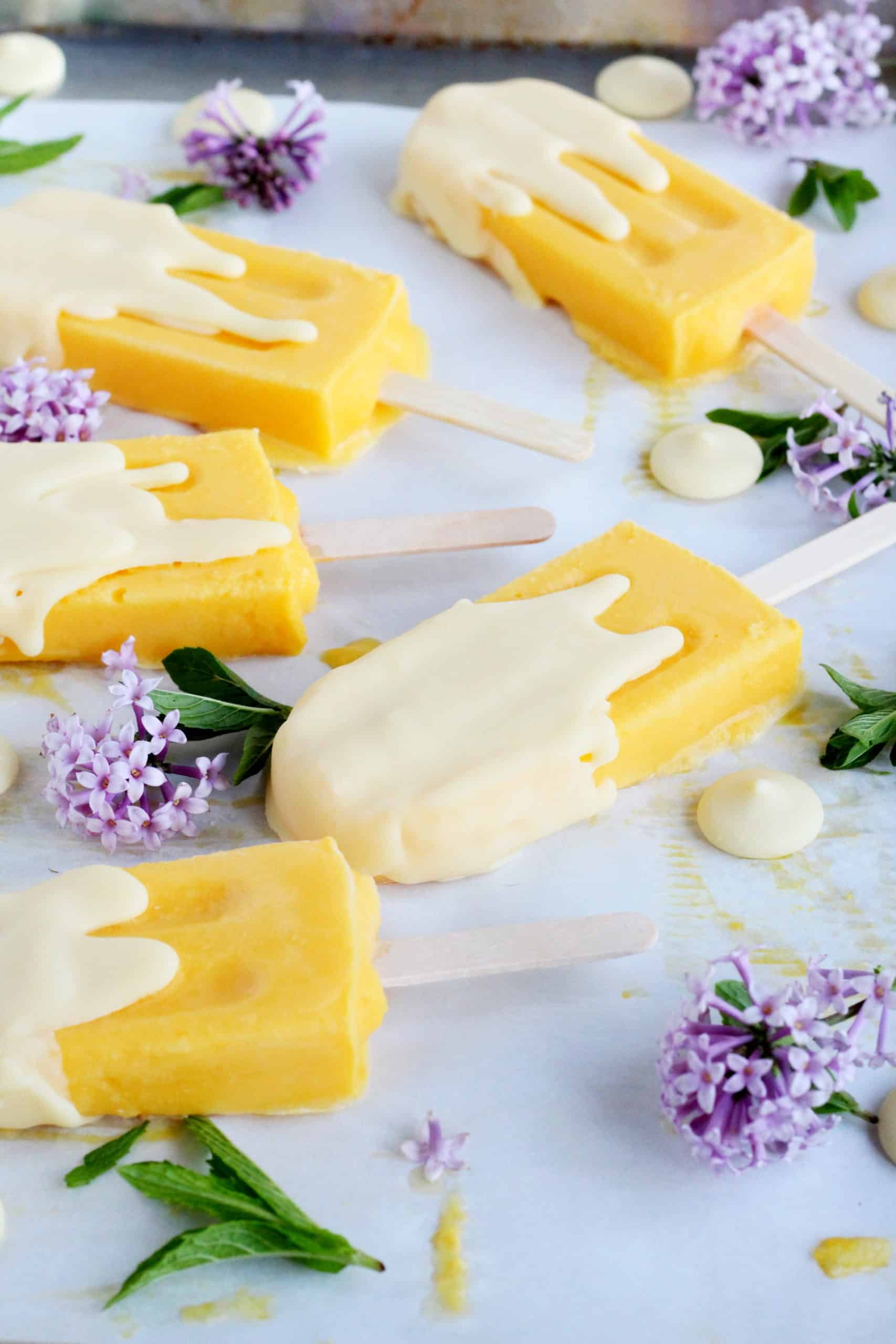 popsicles in mango flavour
