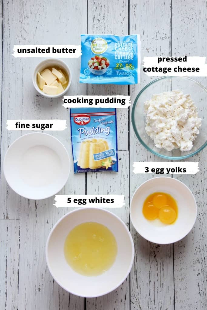 ingredients for cottage cheese filling