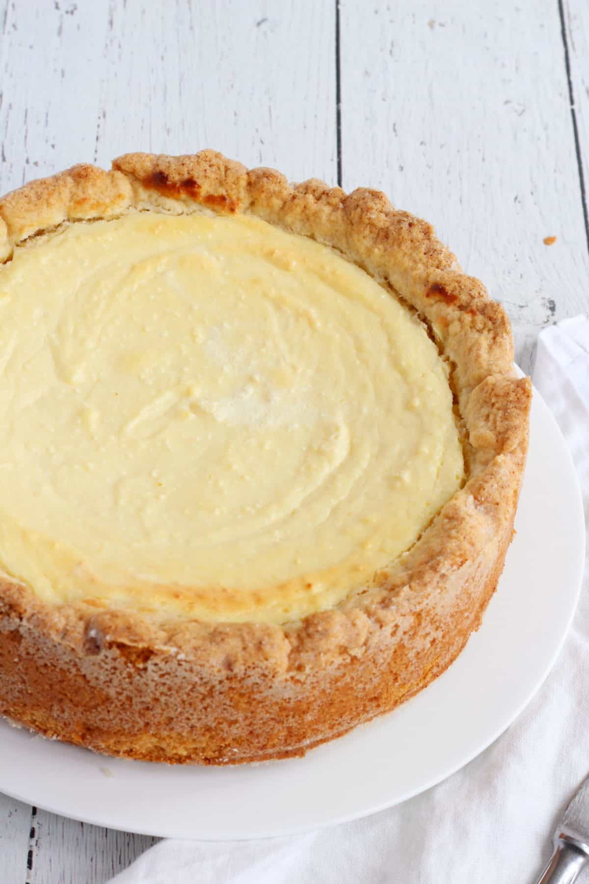 pressed dry cottage cheese cake