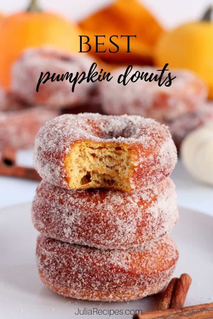 pumpkin donuts with pinterest graphics