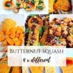 four ways how to make Butternut squash