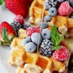 belgian waffles with fresh fruit