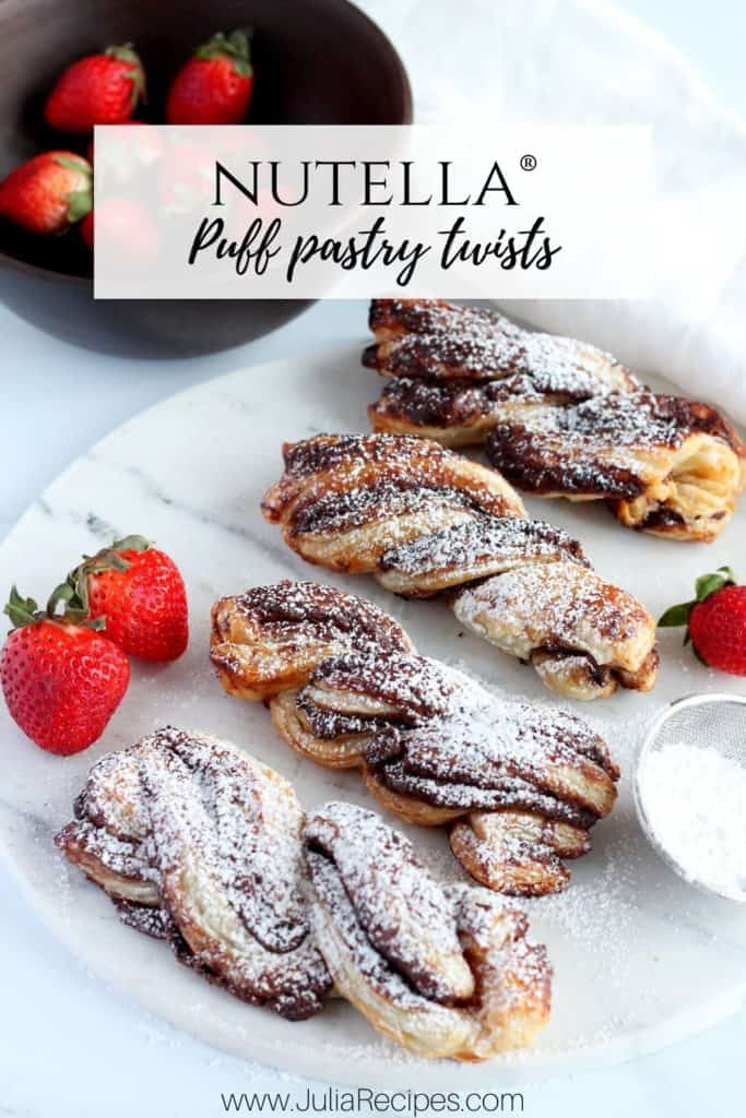 puff pastry nutella twists