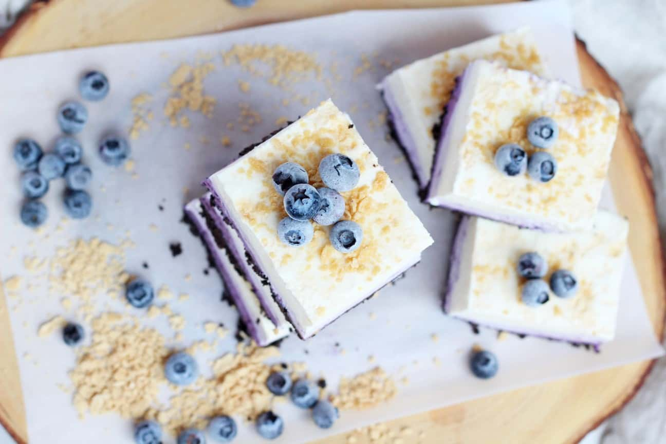 Blueberry squares view from the top