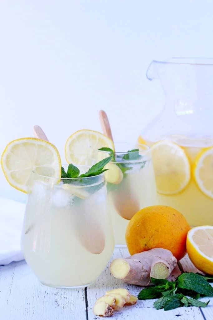 chilled ginger beverage