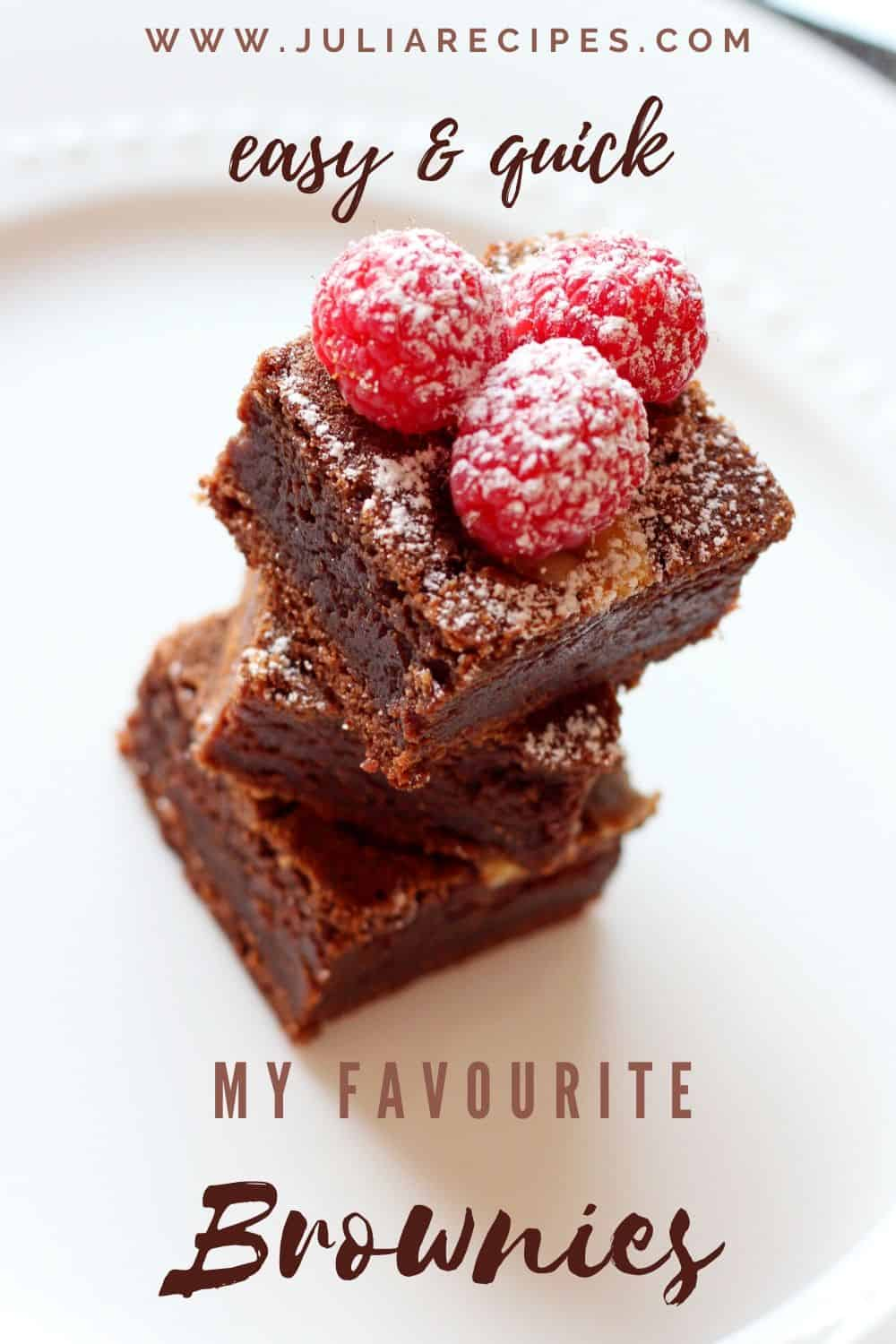 pin for easy and quick brownies