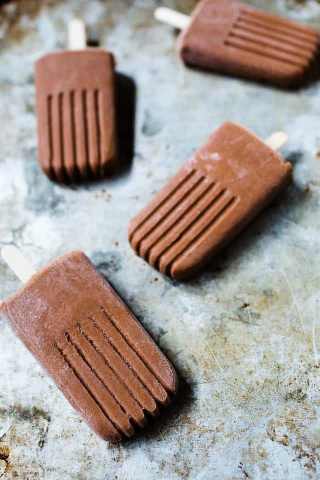 bourbon chocolate popsicles