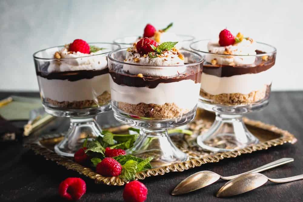 chocolate layered dessert