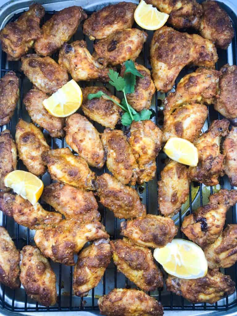 Masala grilled chicken wings