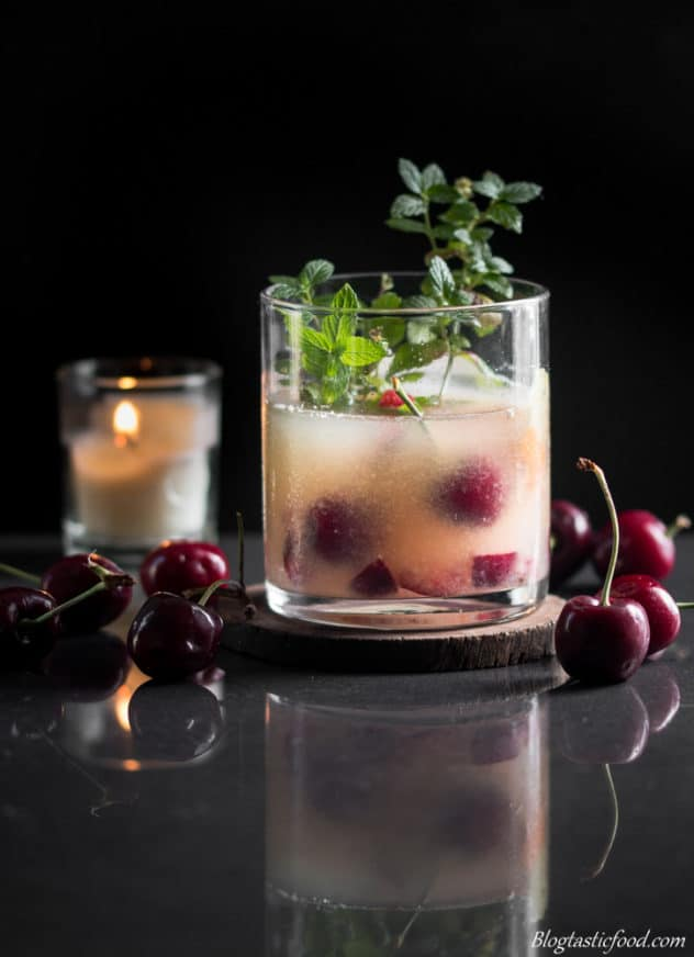 orange and cherry flavoured whiskey sour