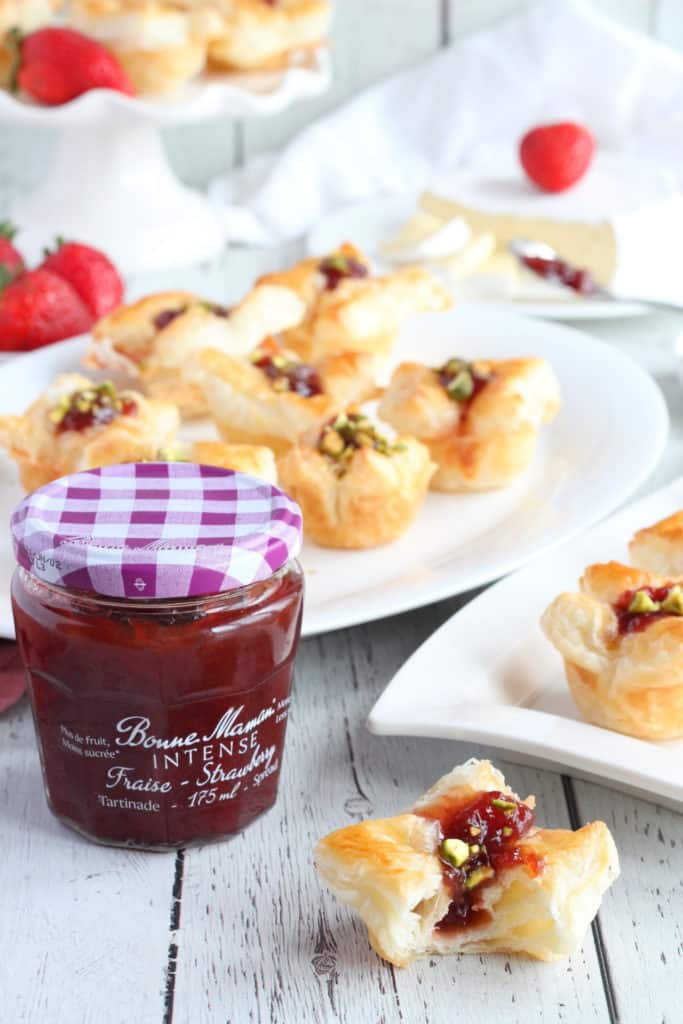 bites filled with strawberry jam