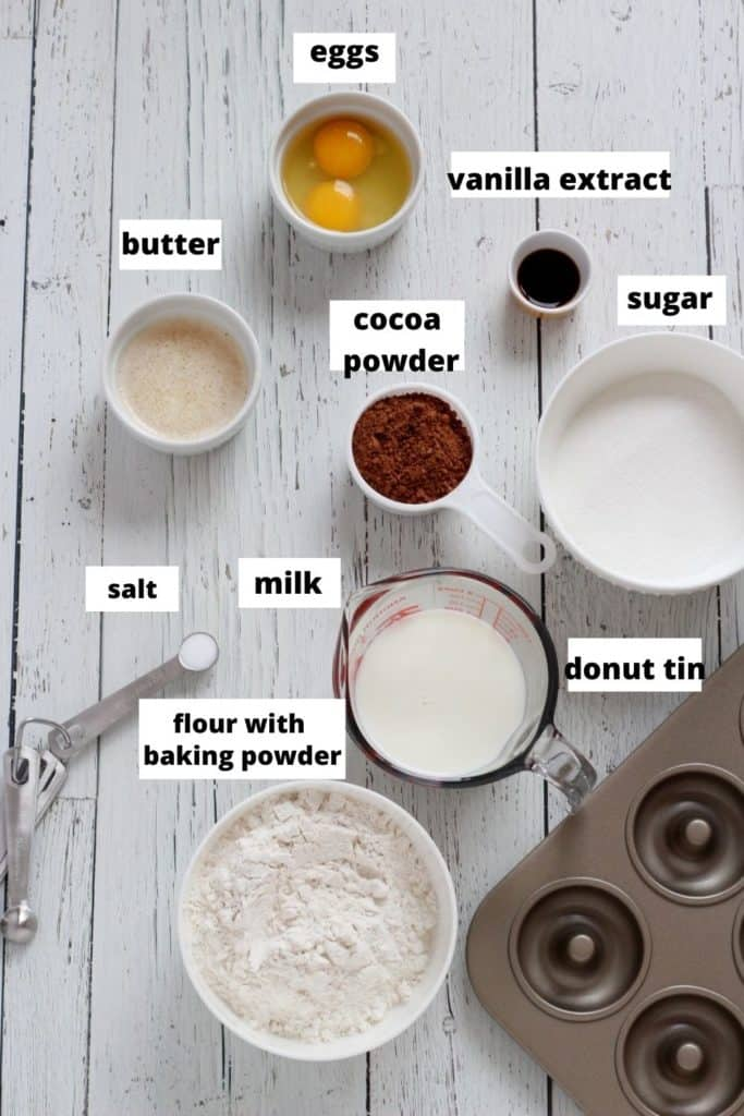 Ingredients for oreo donuts