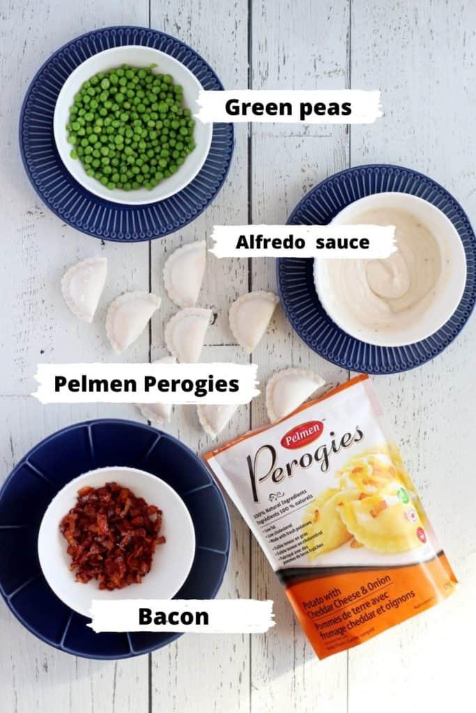 Ingredients for pelmen perogies